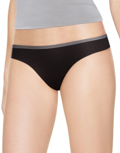 Hanes Women's Cotton Stretch Thong - Package of 4