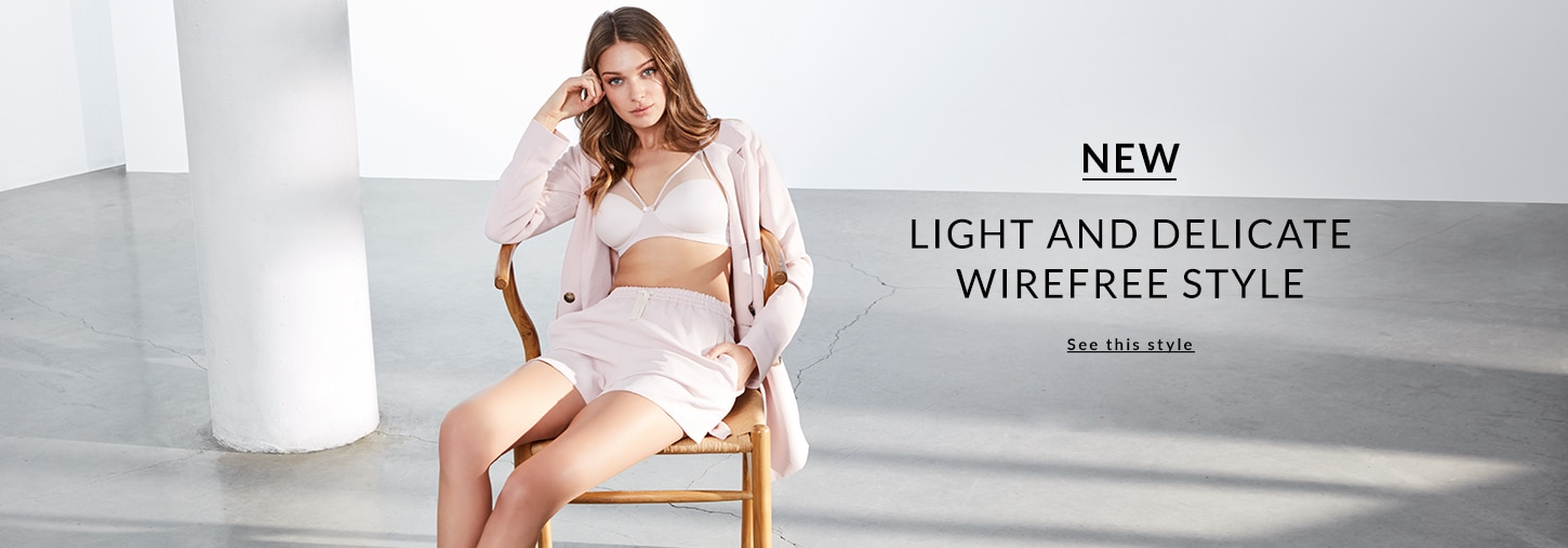 NEW - Light and delicate wirefree style